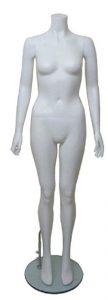 White Headless Female Mannequin