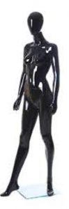 Black Egg Head Female Mannequin