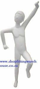 Abstract High Gloss Jumping Kiddies Mannequin