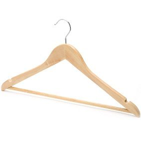 Wooden Hanger with Trousers bar