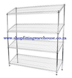 Sloped Chrome Shelf