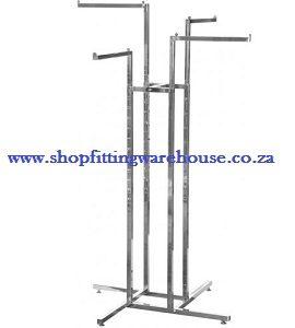 4 Straight Arm Clothing Rail