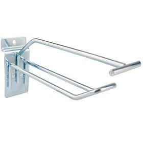 Euro Slat hook with overhead bar